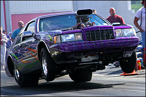 Todd Kaspers Hot Rod Lincoln In Index Drag Racing action